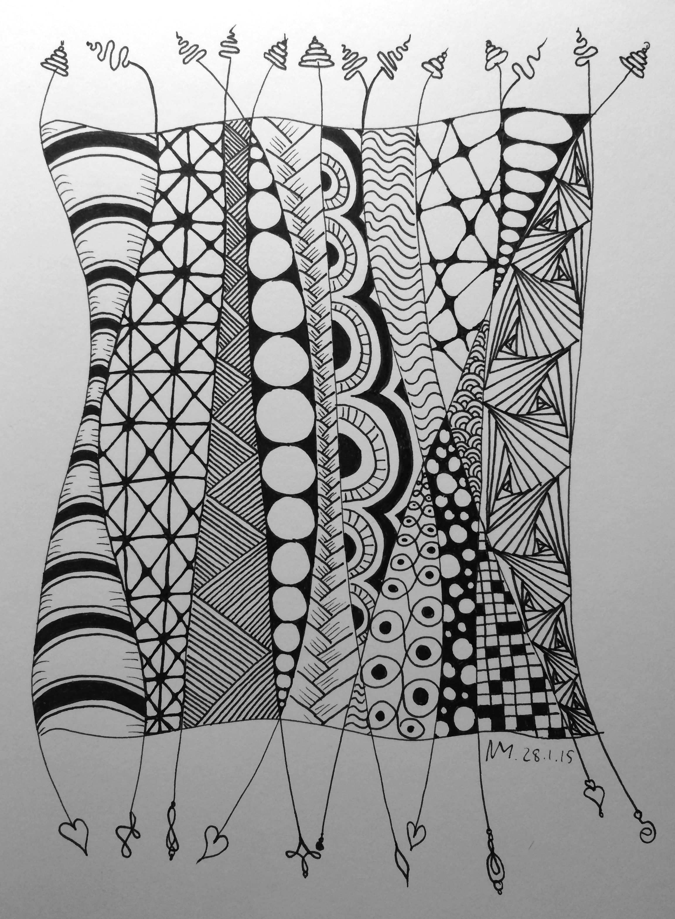 Erinnert Mich An Afrikanische Frauen In Ihren Bunt Gemusterten Gewandern Afrikanischefrauen Erinnert Mich An Afrikanische Muster Muster Malen Zentangle Muster