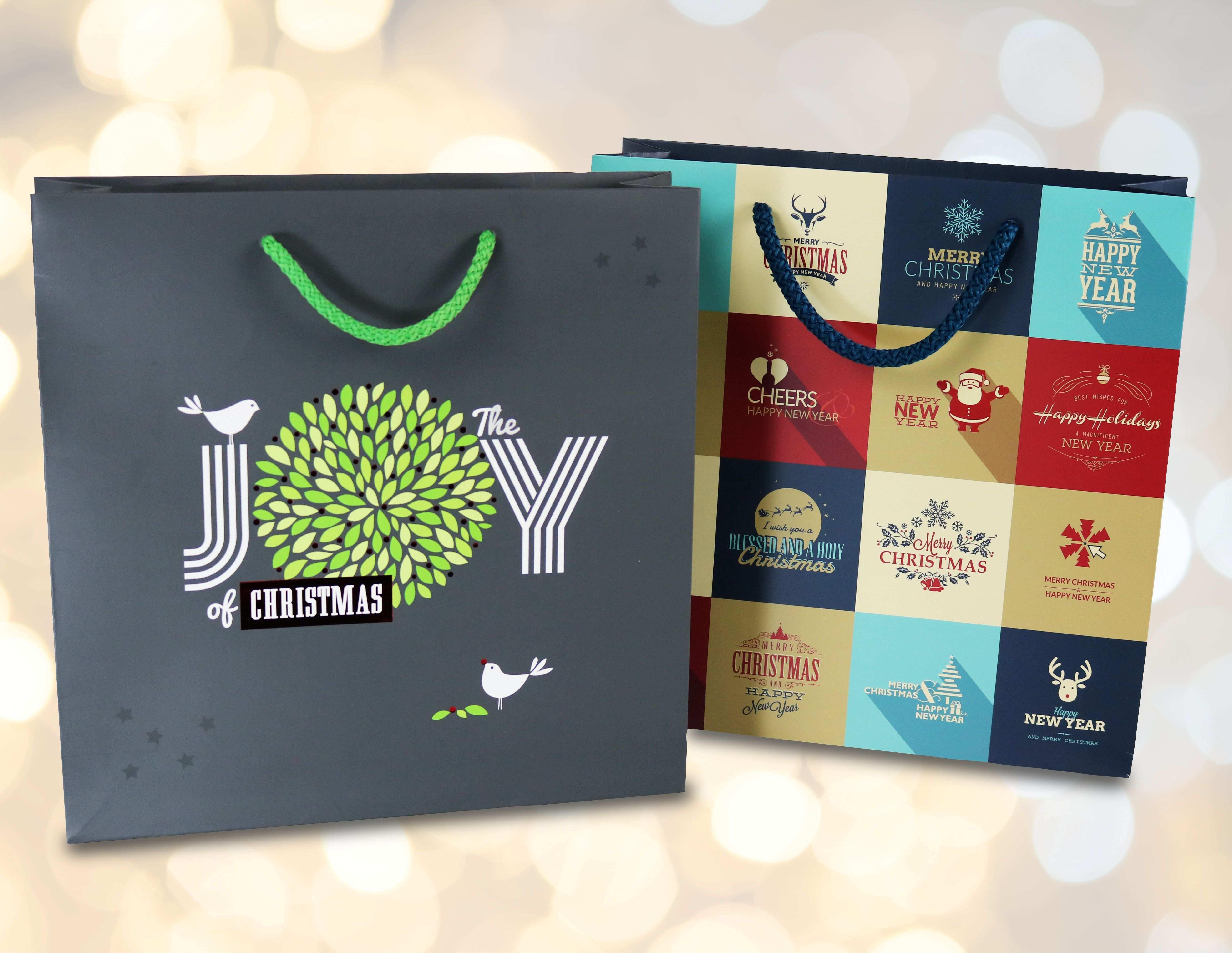 Zu Weihnachten In Passendem Design Bedruckte Papiertuten Papiertaschen Von Bags By Riedle Papiertaschen Papiertuten Papiertragetaschen