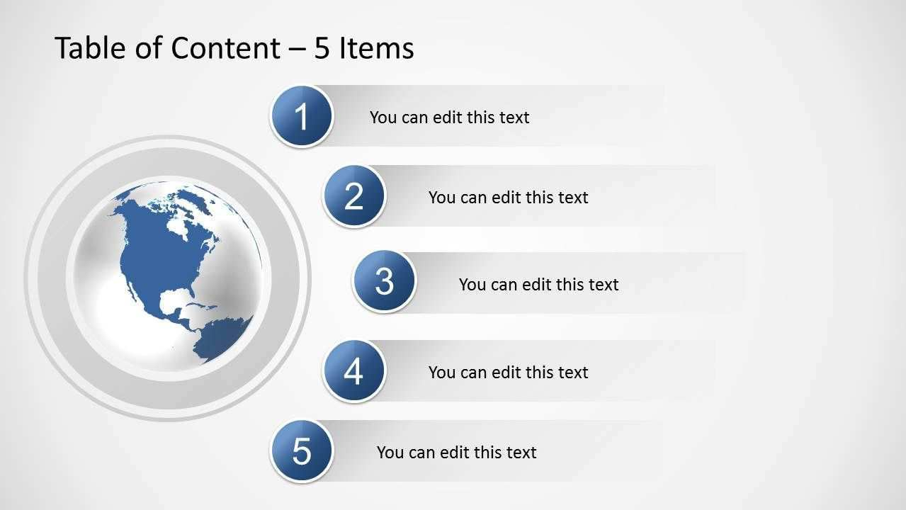 Table Of Content Slides For Powerpoint Slidemodel Powerpoint Tutorial Table Of Contents Table Of Contents Design