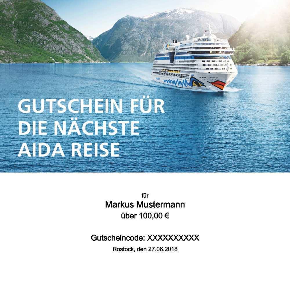 Aida Gutschein Online Erstellen Bis 500 Euro Und Einlosen So Geht S