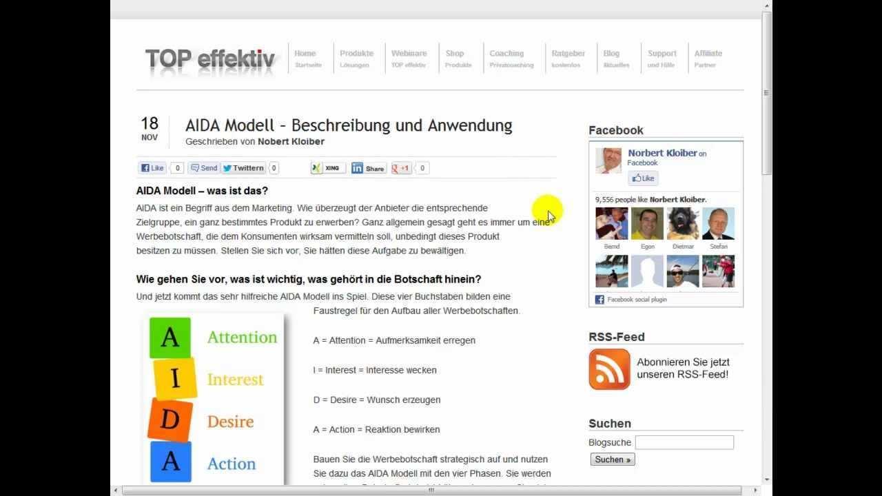 Aida Modell Beschreibung Und Anwendung Youtube