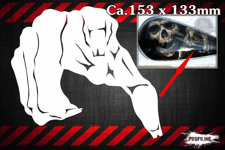Skelett Hand Airbrush Schablone Skeleton Hand Stencil Sk Brush Fachgeschaft Und Custompaint Studio Fur Airbrush Airbrush Airbrush Designs Airbrush Art