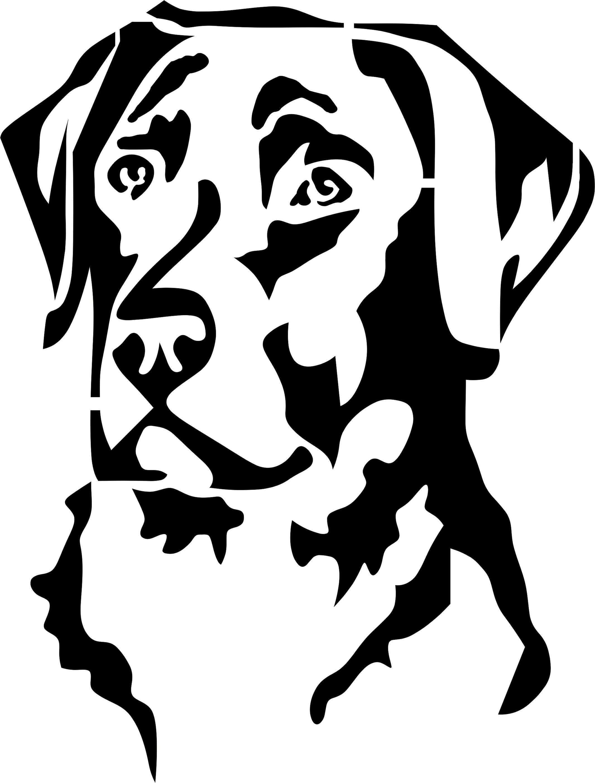 Eigenmarke Stencil Schablone Labrador Hunde Silhouette Hunde Gemalde Scherenschnitt Hund
