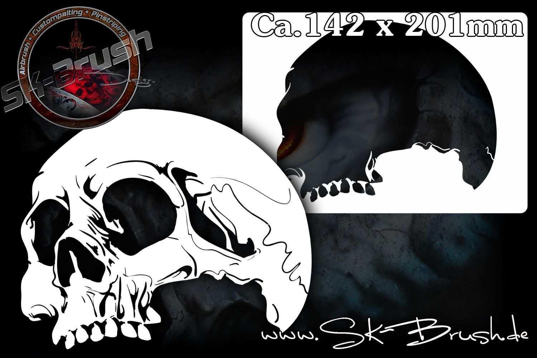 Skull 18 Airbrush Schablone Schadel Totenkopfe Skull Ca A5 Schadel Schablone Schablonen Airbrush Schablonen