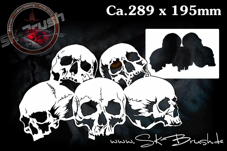 Piles Of Skulls 104 Airbrush Schablone Totenkopfe Schadel Skull Airbrush Schablonen Schablonen Airbrush