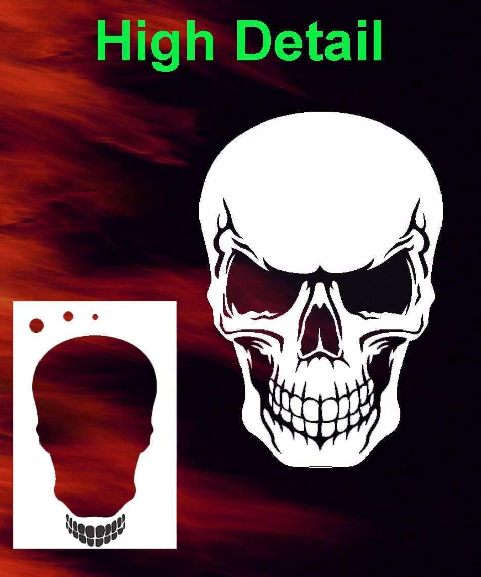 Skull 27 Airbrush Stencil Spray Vision Template Air Brush Skull Stencil Free Stencils Airbrush Skull