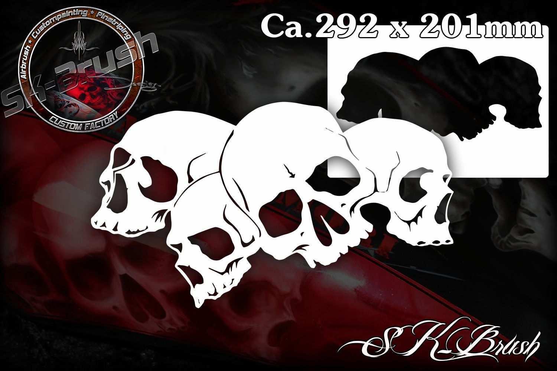 Piles Of Skulls 102 Airbrush Schablone Totenkopfe Schadel Skull Schablonen Schadel Schablone Airbrush Schablonen