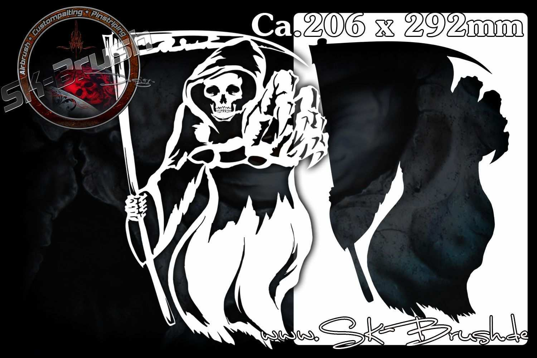 Sensenmann Grim Reaper Profi Airbrush Schablone Airbrush Schablonen Airbrush Schablonen