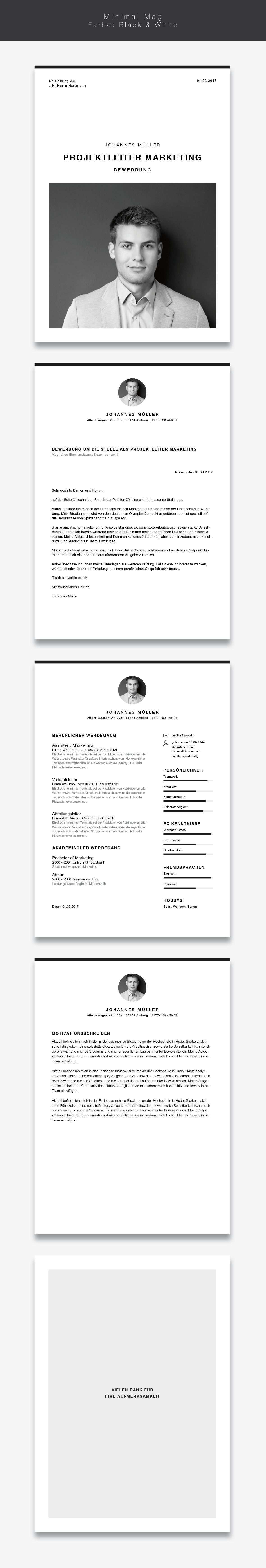 Bewerbungsvorlage Lebenslauf Minimal Mag Lebenslauf Design Lebenslauf Kreativer Lebenslauf