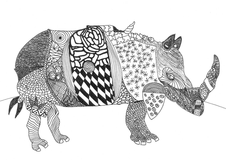 Rhinozeros St Matthias Schule