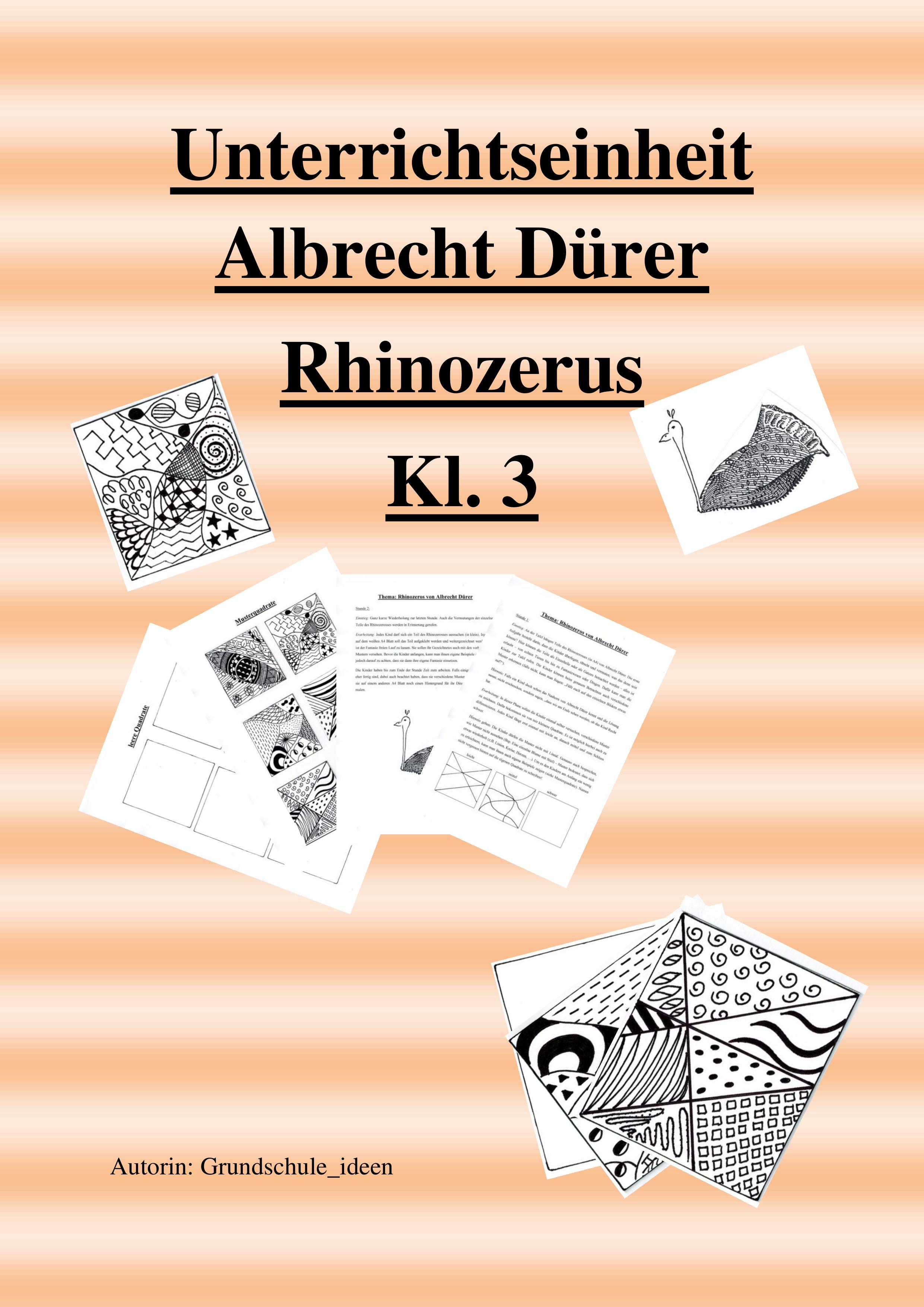 Unterrichtseinheit Albrecht Durer Rhinozerus Kunst Unterrichten Kunst Grundschule Kunstunterricht