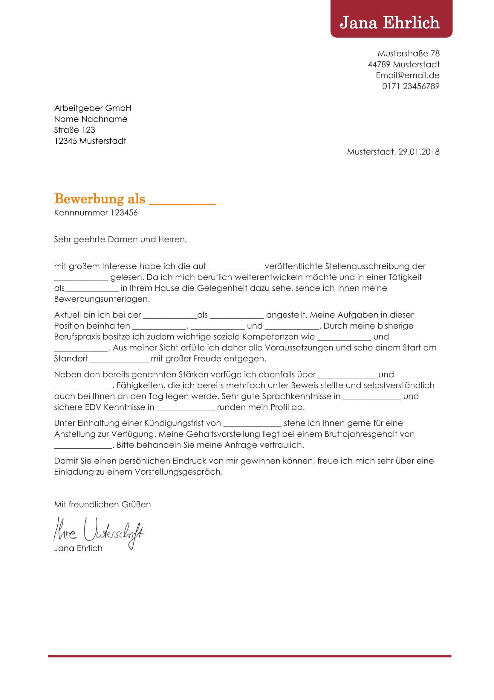Einzigartig Bewerbung Nach Ausbildung Muster Briefprobe Briefformat Briefvorlage Relatable Job Person