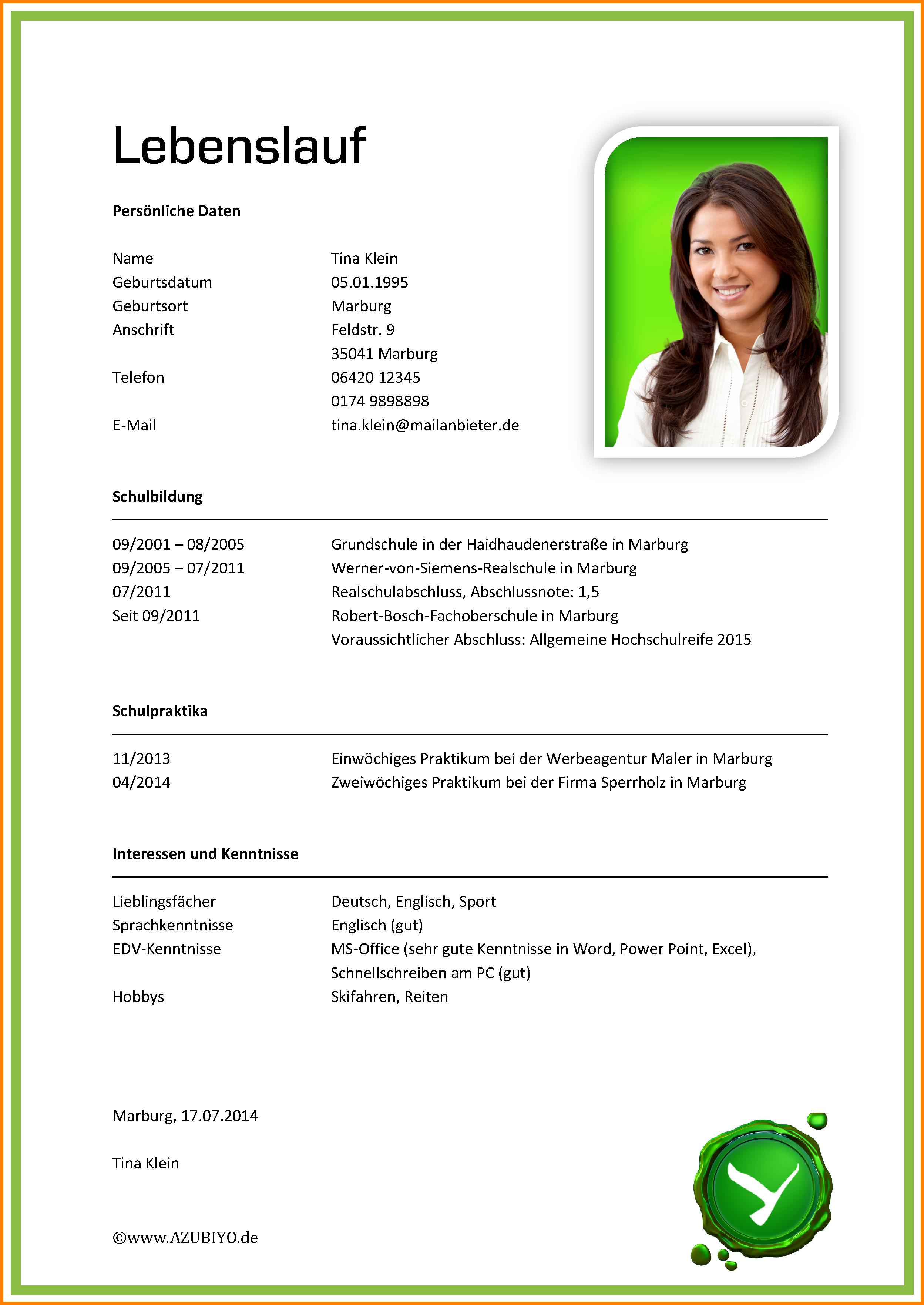 7 Lebenslauf Ausbildung Muster Recommendation Template Vorlage Twowaves Co Bio Data For Marriage Marriage Biodata Format Resume Format Download