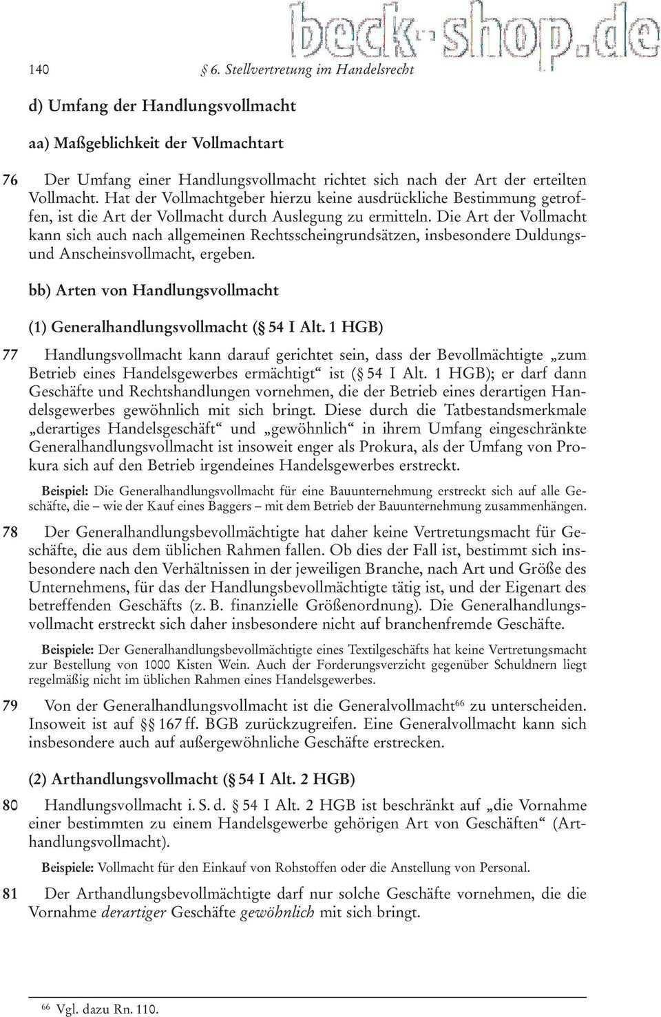 Ii Handelsrechtliche Besonderheiten Des Stellvertretungsrechts Pdf Free Download