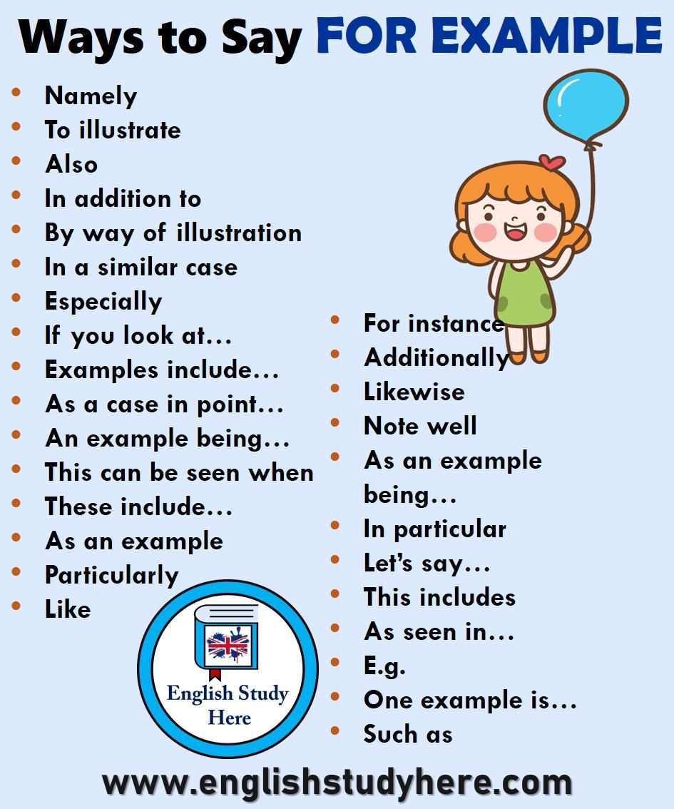 28 Weisen Zum Beispiel Auf Englisch Zu Sagen Englisch Studieren Hier Beisp 28 Weisen Zu In 2020 English Writing Skills Writing Words English Vocabulary Words
