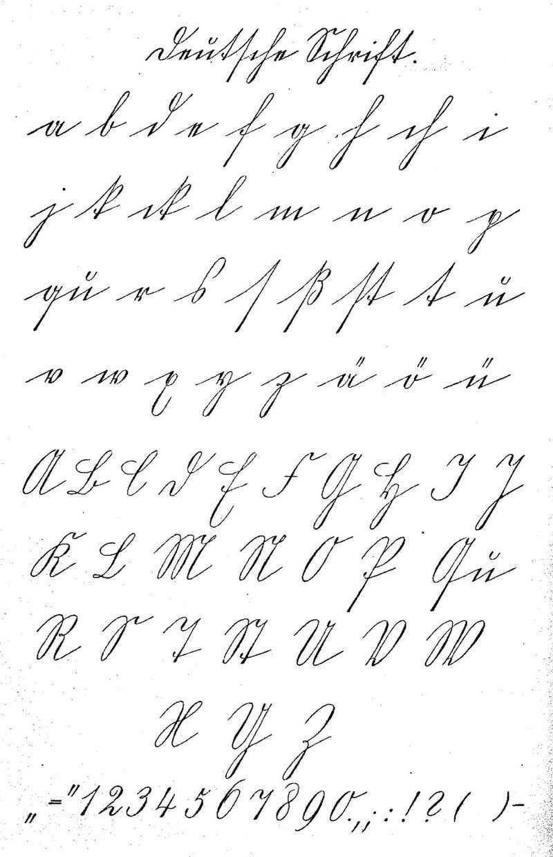 Schriftmuster Deutsche Schrift Deutsche Schrift Alte Schrift Alte Deutsche Schrift