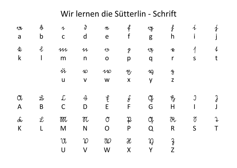 Sutterlin Alphabet Unterrichtsmaterial In Den Fachern Geschichte Sachunterricht Sutterlin Alphabet Alphabet Altdeutsche Buchstaben