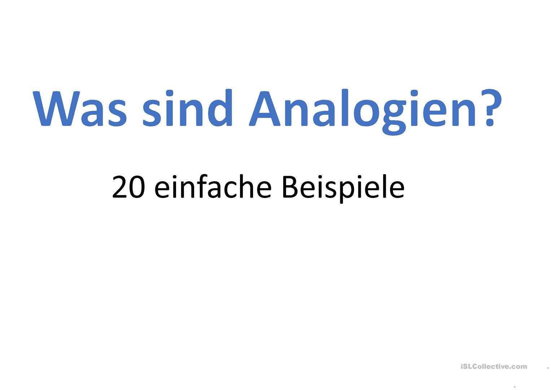 Analogien Deutsch Daf Powerpoints