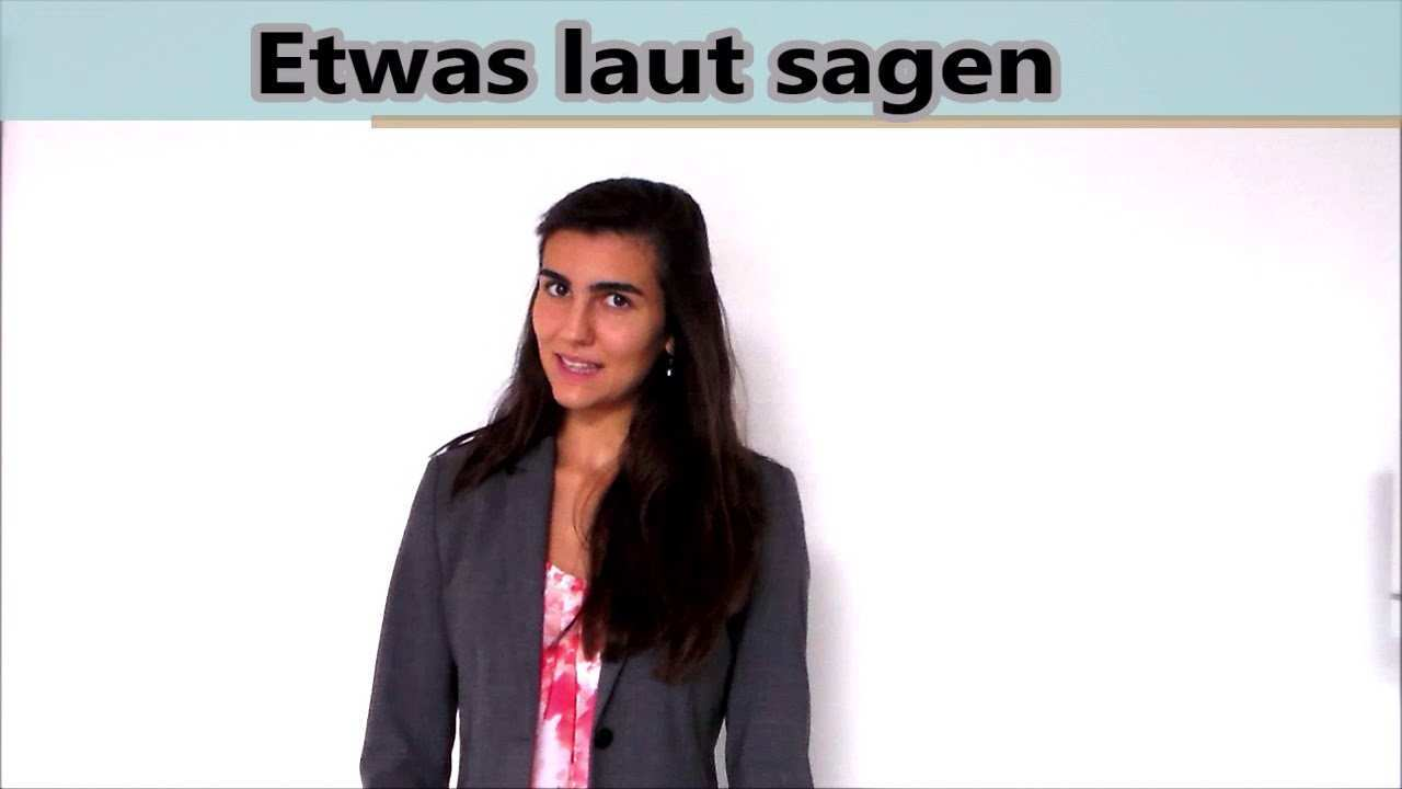Synonyme Fur Sagen Ein Anderes Wort Fur Sagen Deutsch Lernen Mit Videos Online Deutsch Lernen Youtube