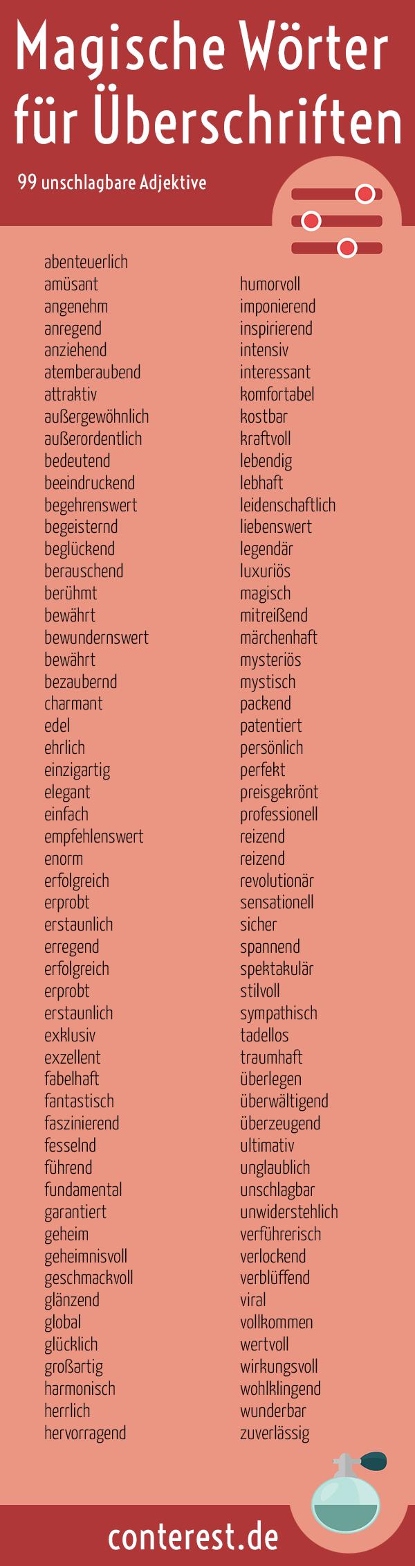 Wie Du Unschlagbar Gute Uberschriften Schreibst 111 Worter Infografik Fremdworter Worter Bildungssprache
