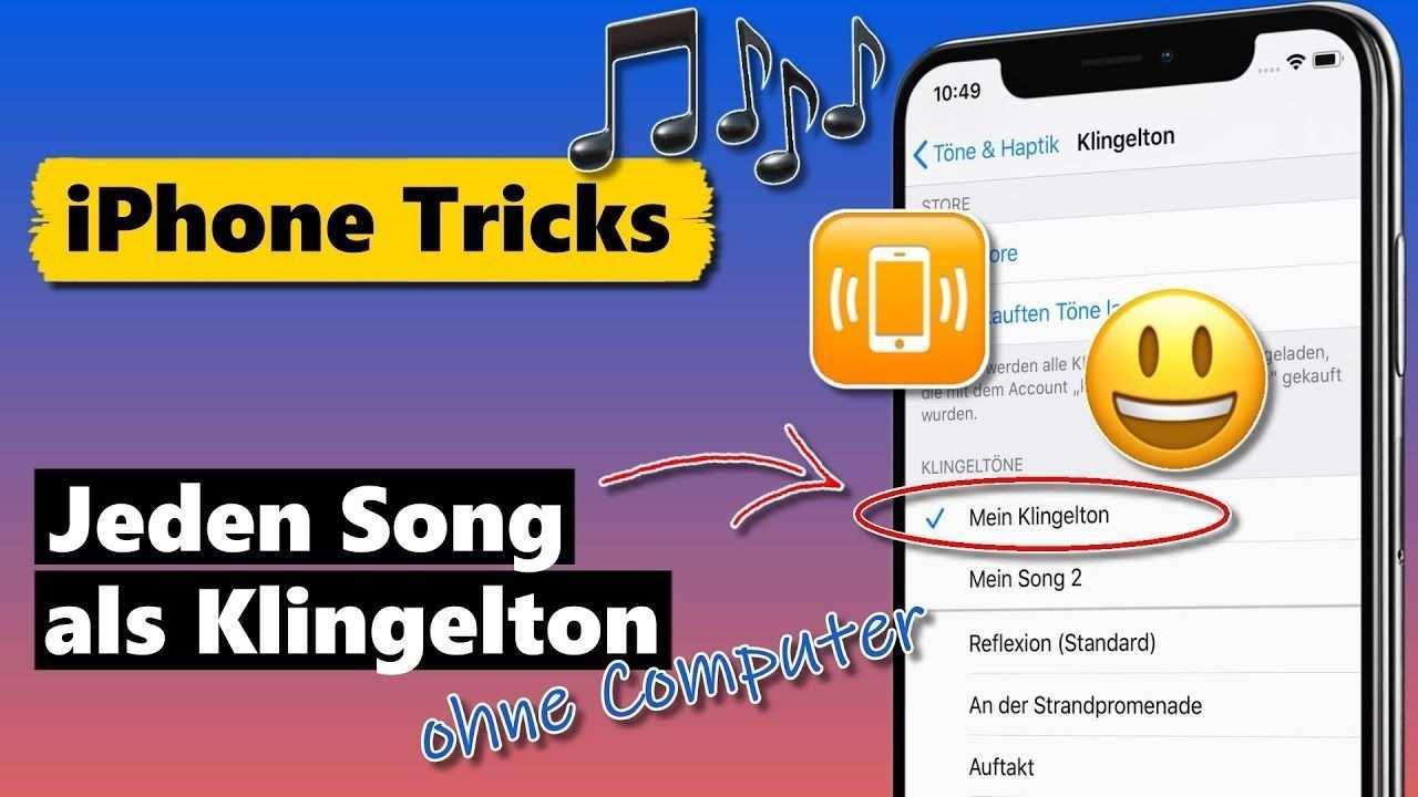 Jeden Song Als Iphone Klingelton Ohne Computer Kostenlos Youtube Iphone Computer Apps