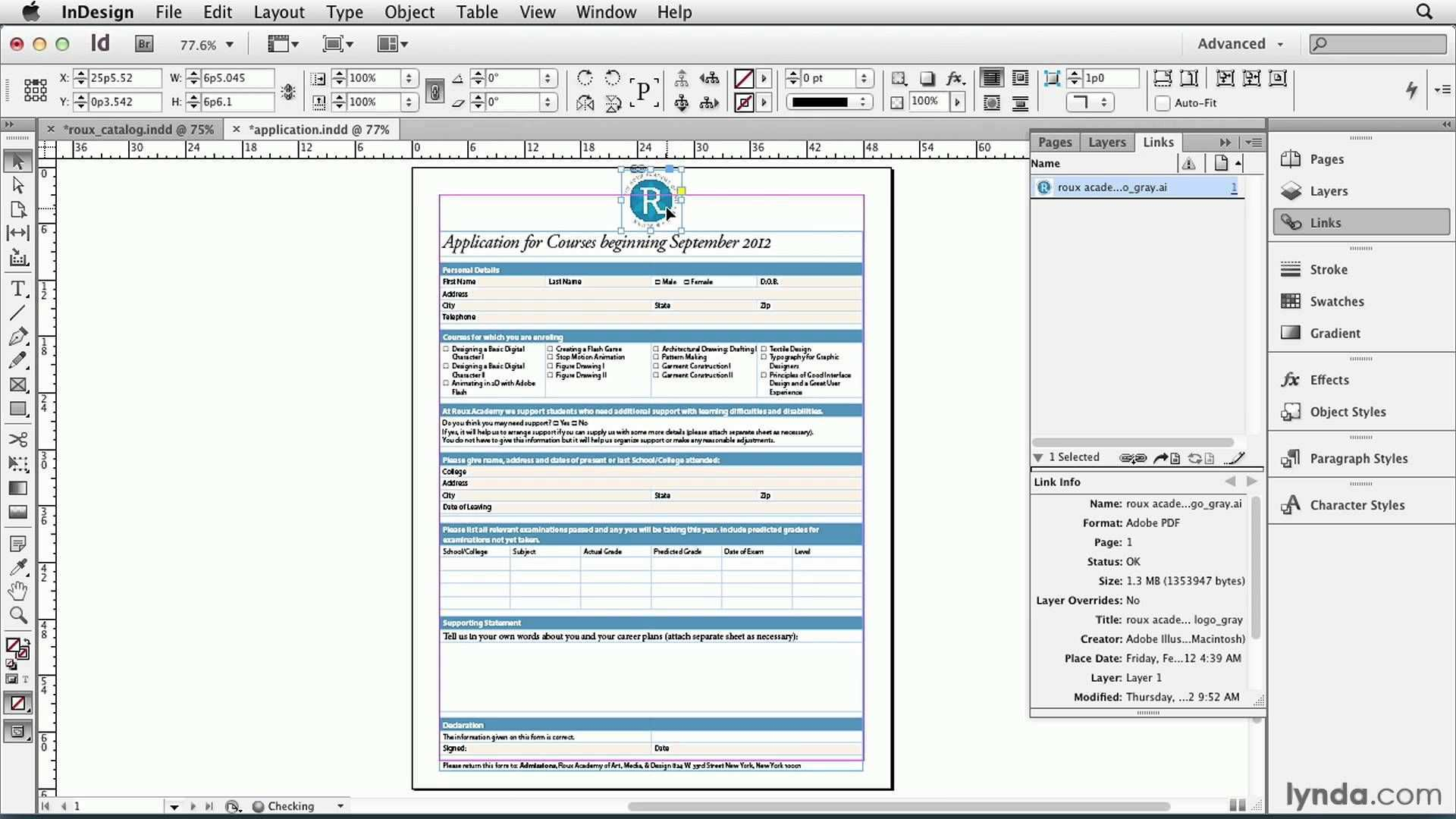 Indesign Tutorial Placing One Indesign File Inside Another Lynda Com Indesign Secrets Series Tipps