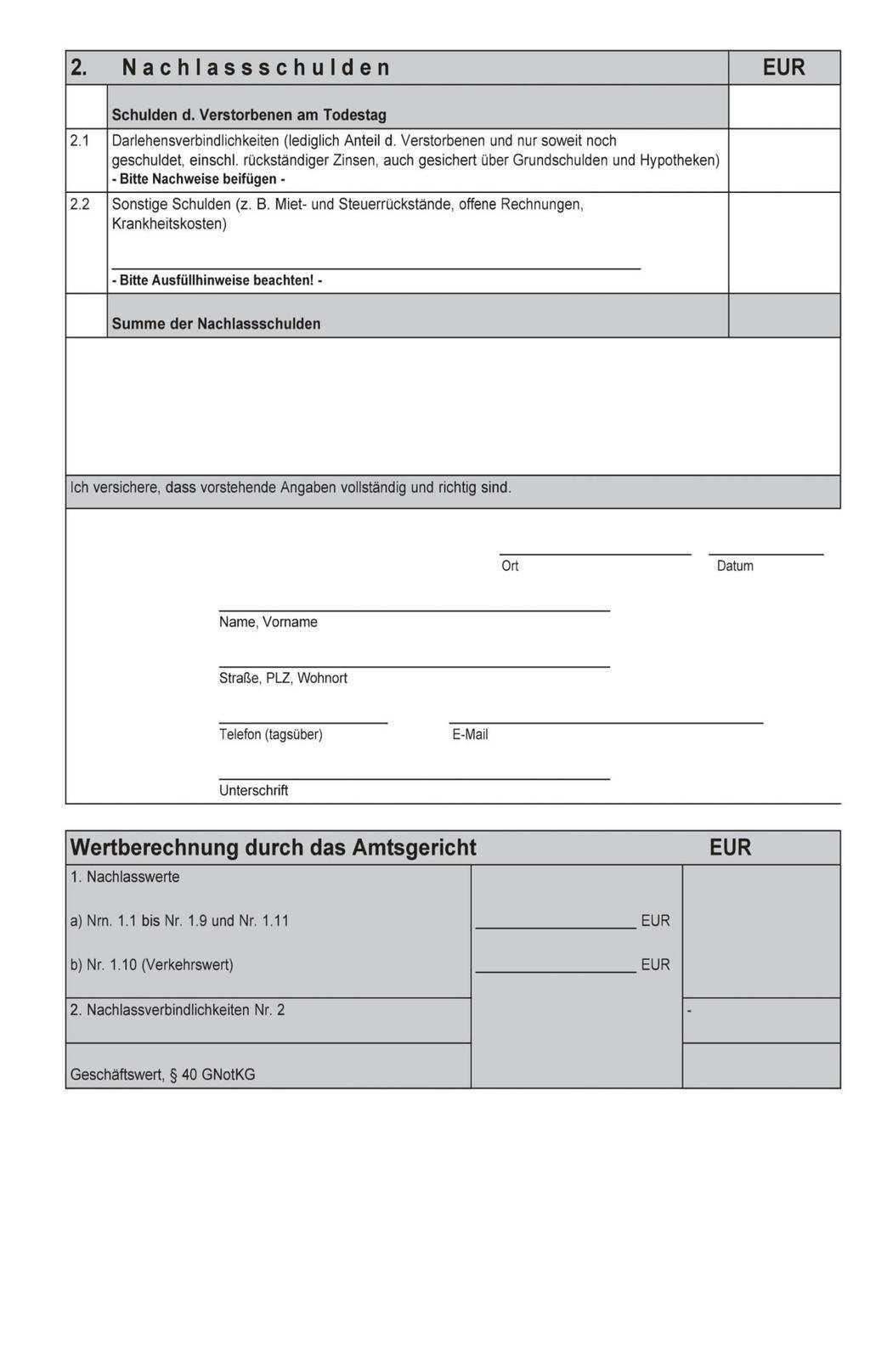Informationen Zum Nachlassverfahren Pdf Kostenfreier Download