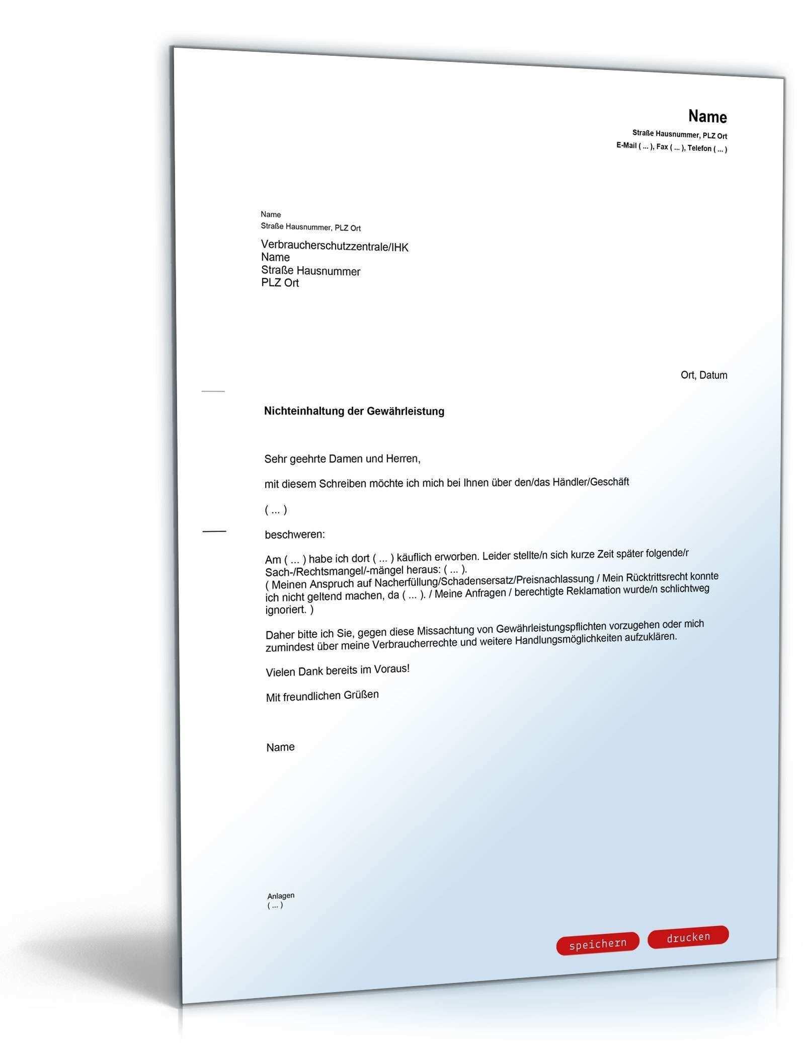 Frisch Musterschreiben Schadensersatz Briefprobe Briefformat Briefvorlage Lebenslauf Vorlagen Word Empfehlungsschreiben
