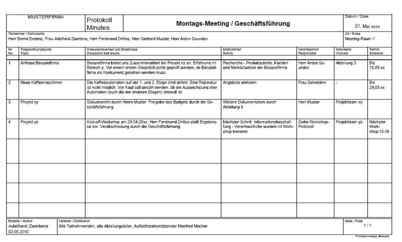 Kostenlose Protokollvorlage Zum Herunterladen Textwende Die Textagentur Vorlagen Kostenlose Vorlagen Kostenlos