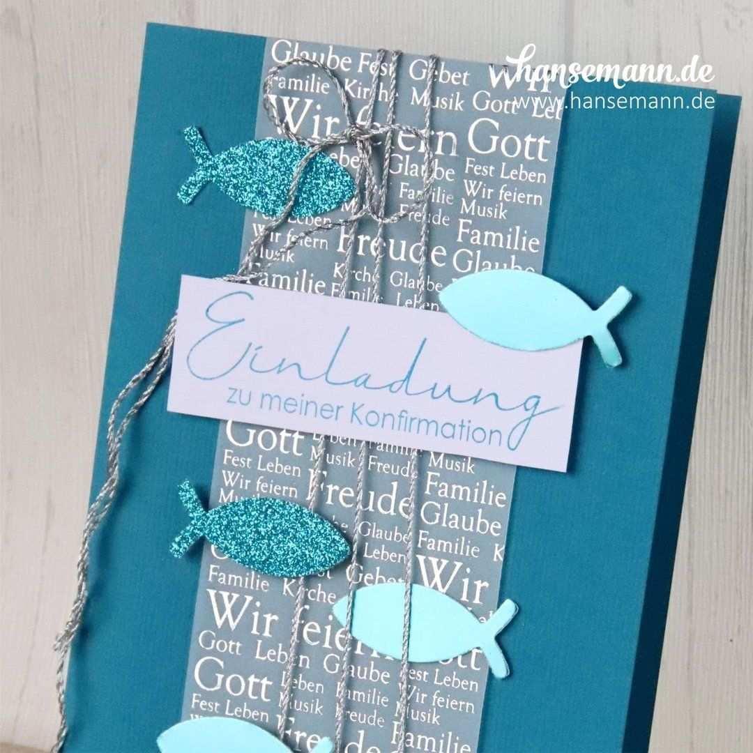 Idee 10 Einladungskarten Zur Konfirmation Kommunion Hansemann De Kommunion Karten Einladung Einladungskarten Konfirmation Einladung Konfirmation