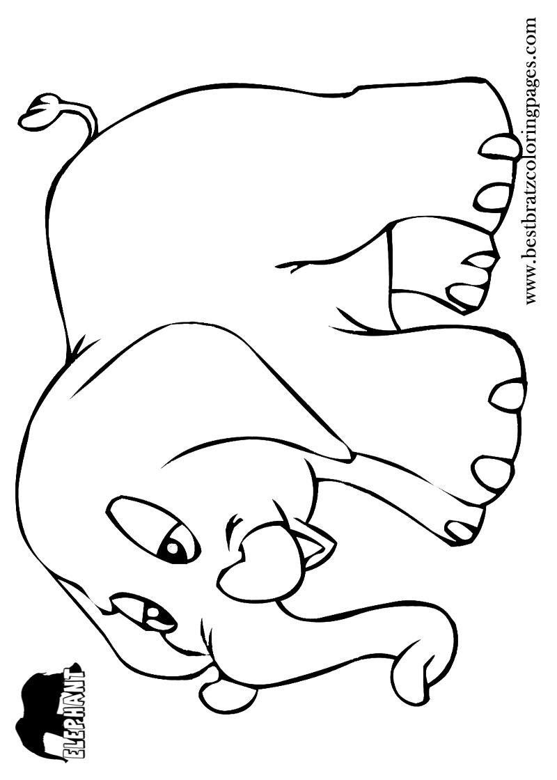 Free Printable Elephant Coloring Pages For Kids Elefanten Schablonen