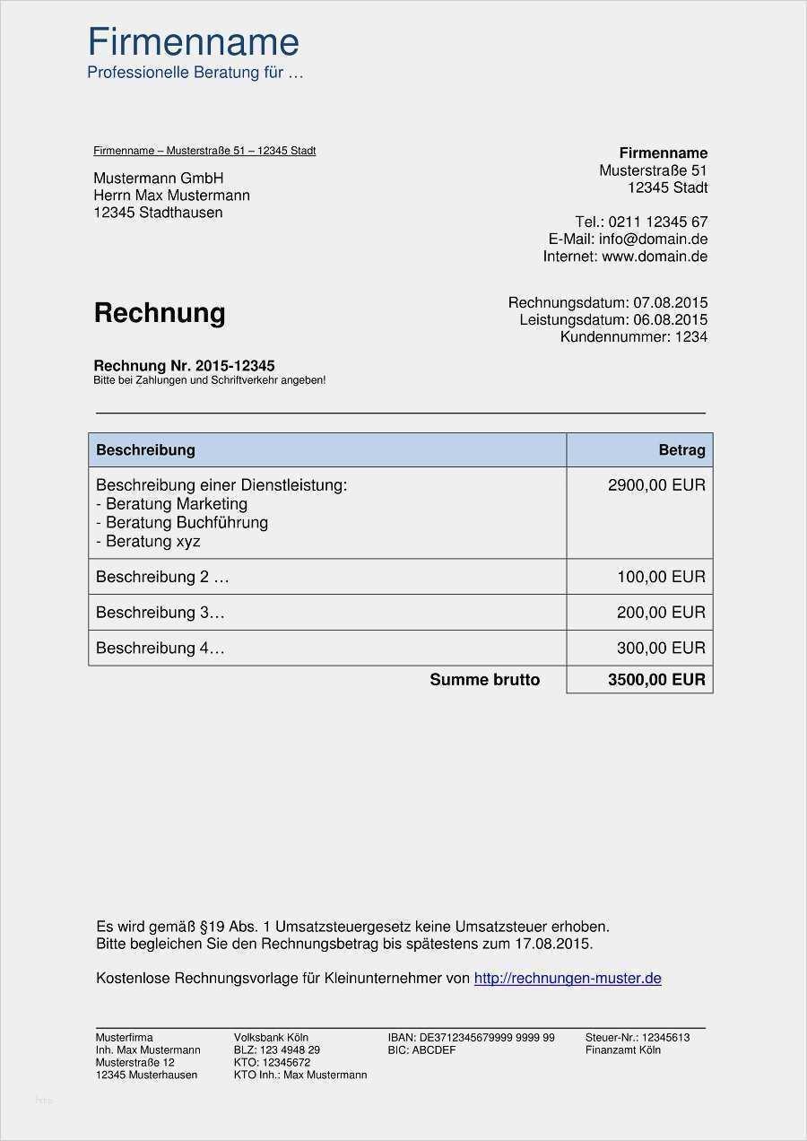 Hubsch Angebot Vorlage Doc Modelle Rechnung Vorlage Rechnungsvorlage Vorlagen