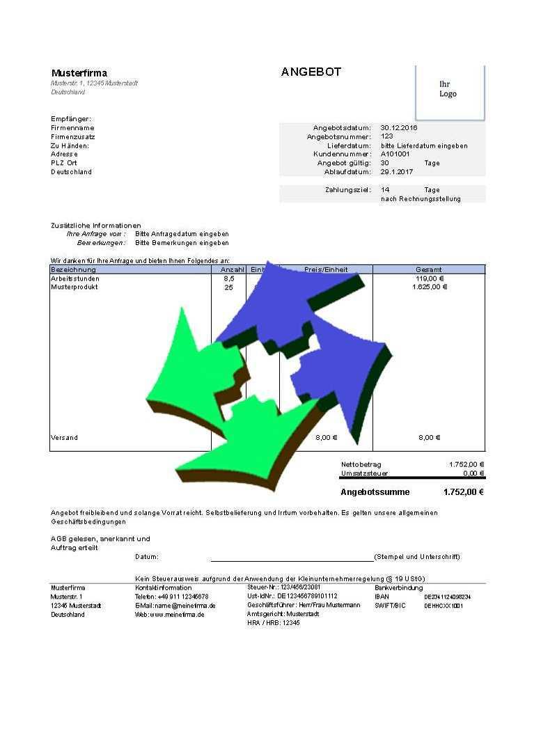 Kostenlose Angebotsvorlagen Fur Excel Und Open Office