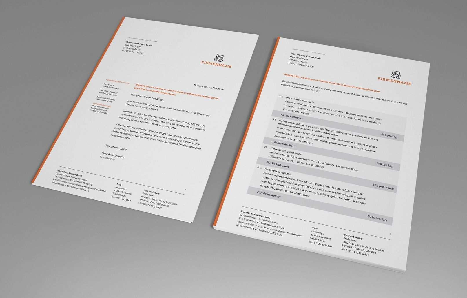 Rechnungsvorlagen Lieferscheine Angebote Muster Herunterladen Angebot Muster Rechnungsvorlage Rechnung Vorlage