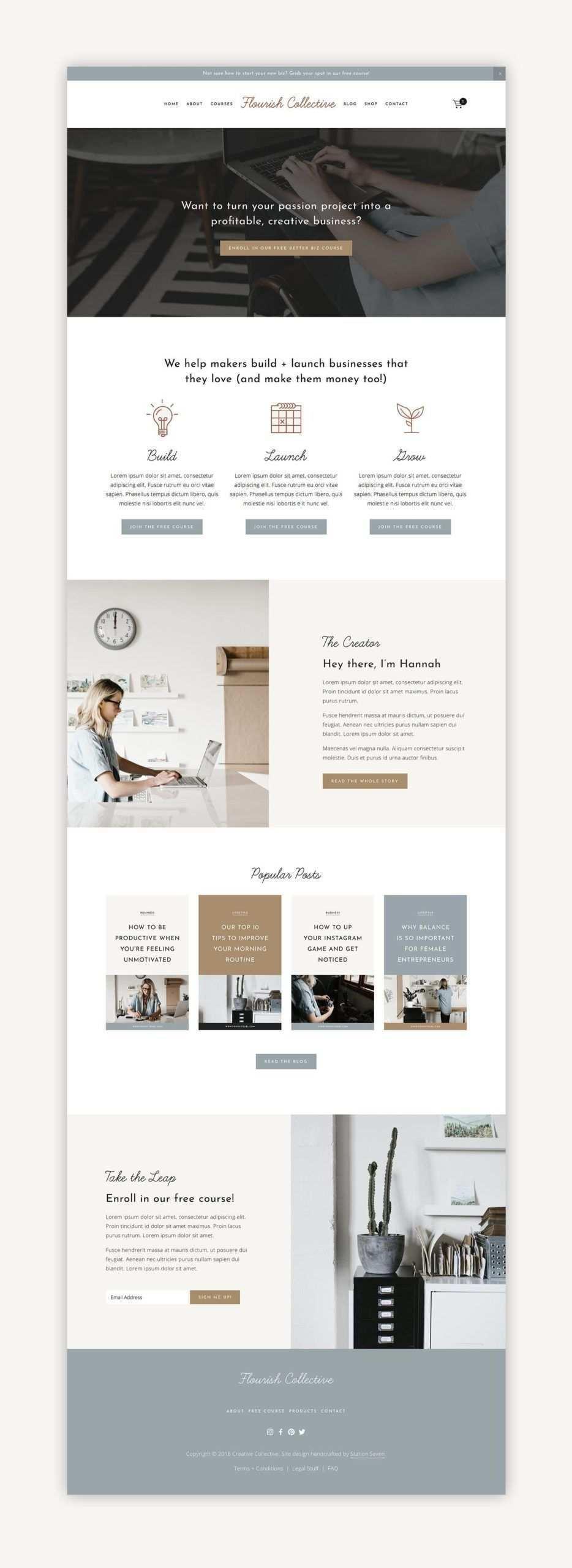 Flourish Squarespace Kit U2014 Station Sieben Squarespace Vorlagen Wordpress In 2020 Design Web Web Design Webdesign Angebote