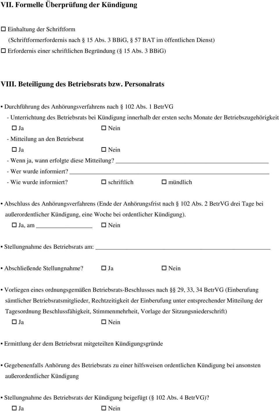 Checkliste Fur Die Annahme Von Kundigungsrechtlichen Mandaten Pdf Free Download