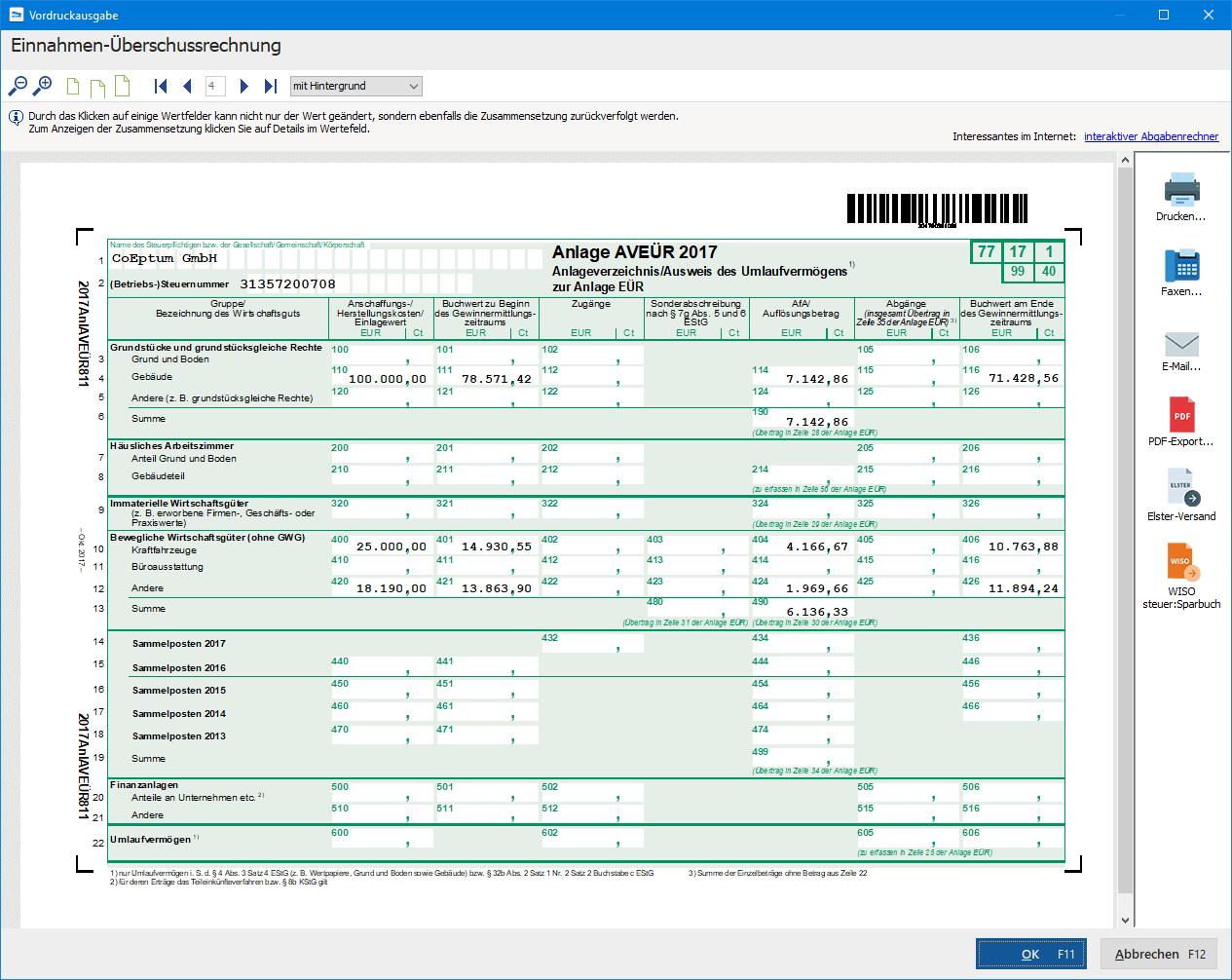 Anlagenverzeichnis Mit Eingebauter Abschreibungs Automatik