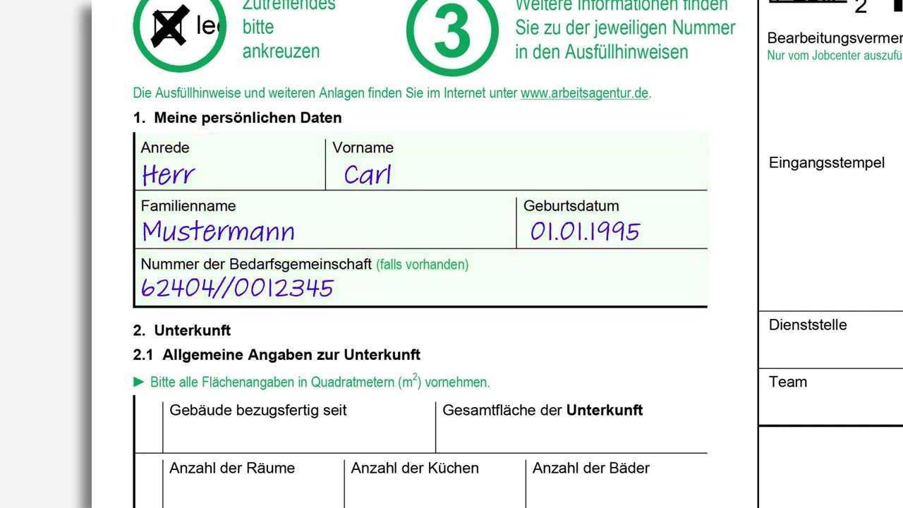 Anlage Kosten Der Unterkunft Kdu Ausfullen Jobcenter Rhein Neckar Youtube