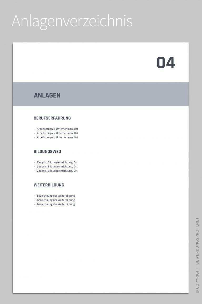 Anlagenverzeichnis Titanus Bewerbung Muster Bewerbungsschreiben Muster Bewerbungsschreiben