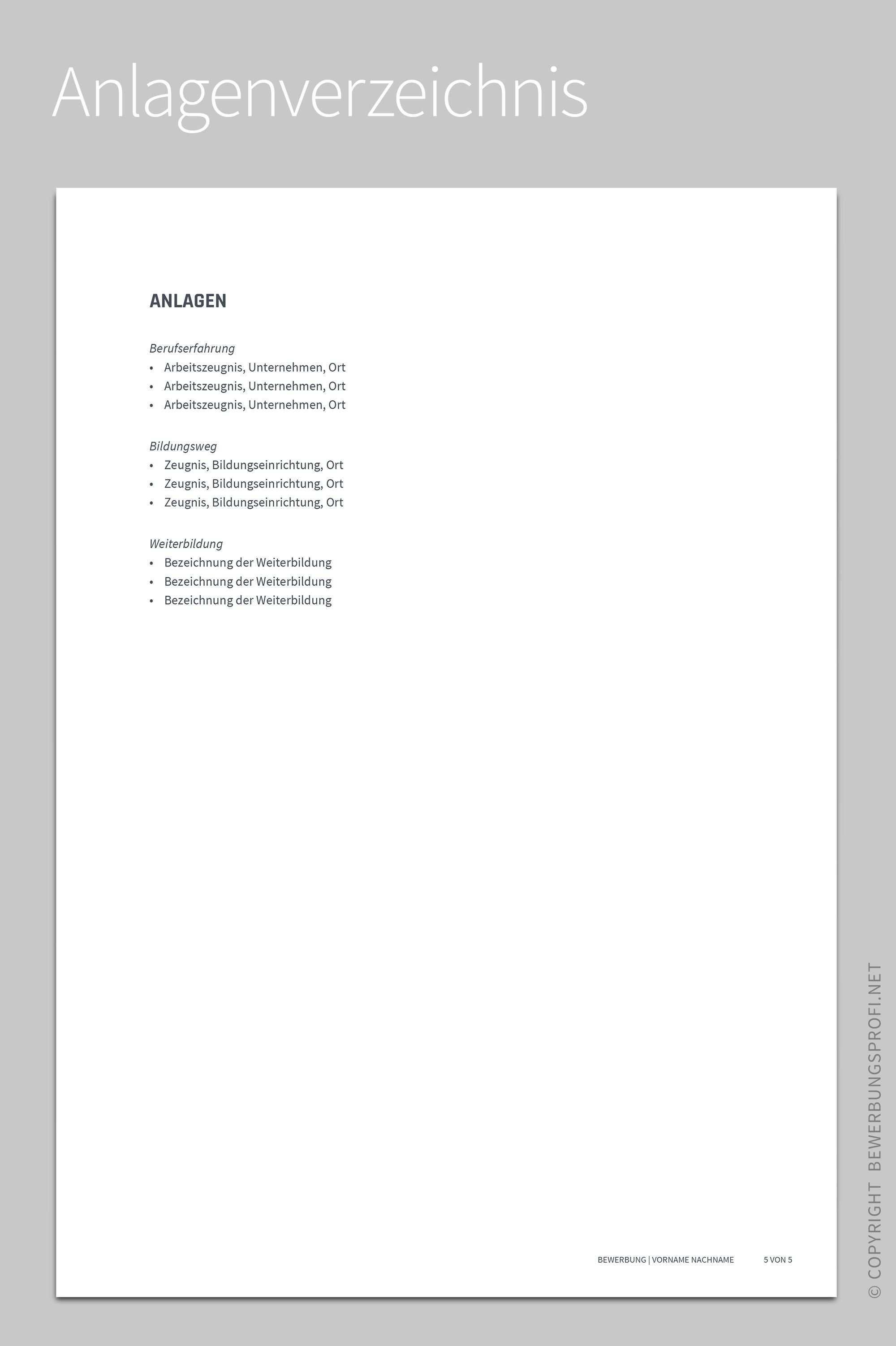 Anlagenverzeichnis Libero Bewerbung Muster Bewerbung Lebenslauf Beispiele
