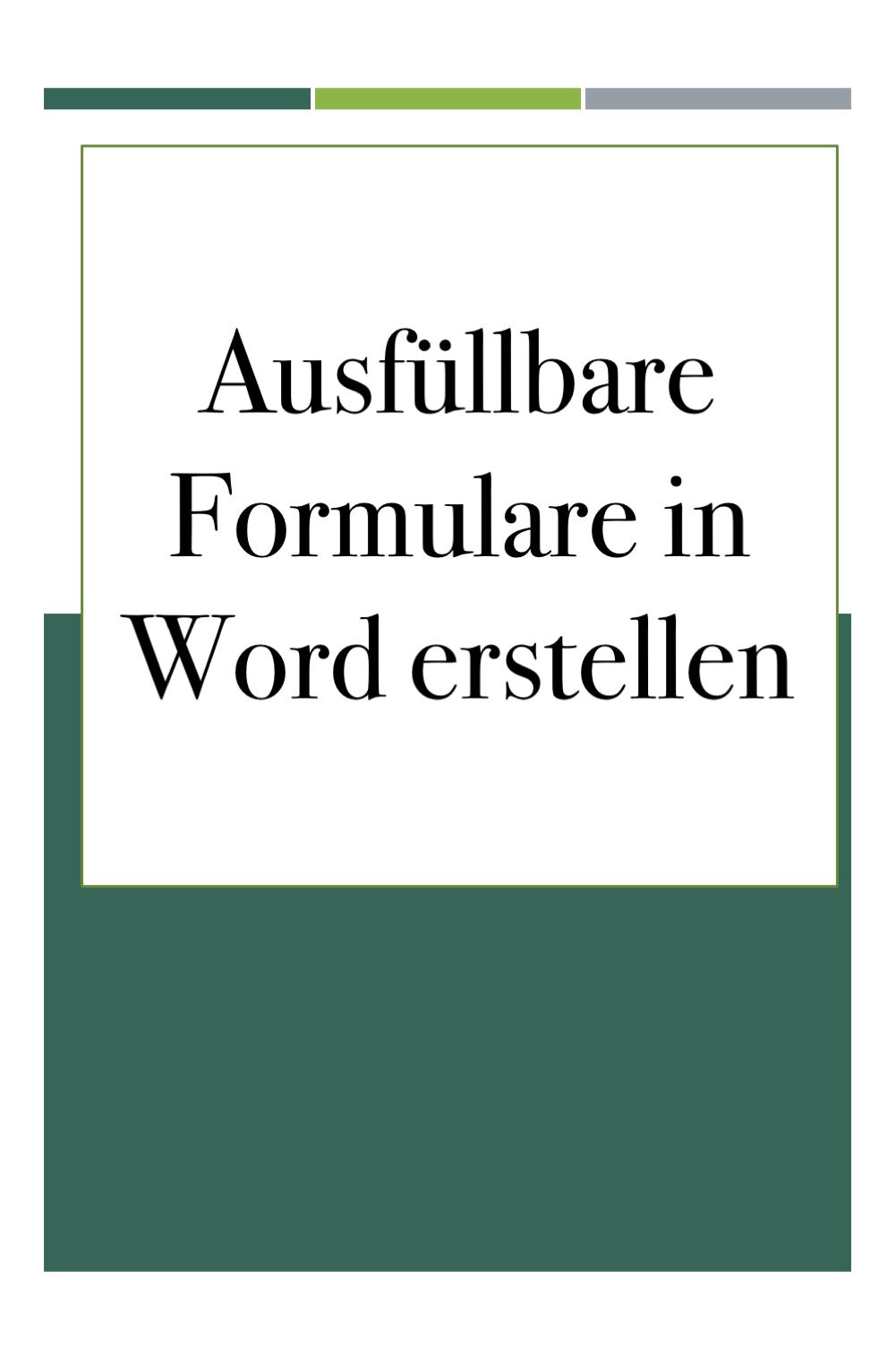 Word Formulare In 2020 Excel Tipps Tipps Und Tricks Buroorganisation Tipps