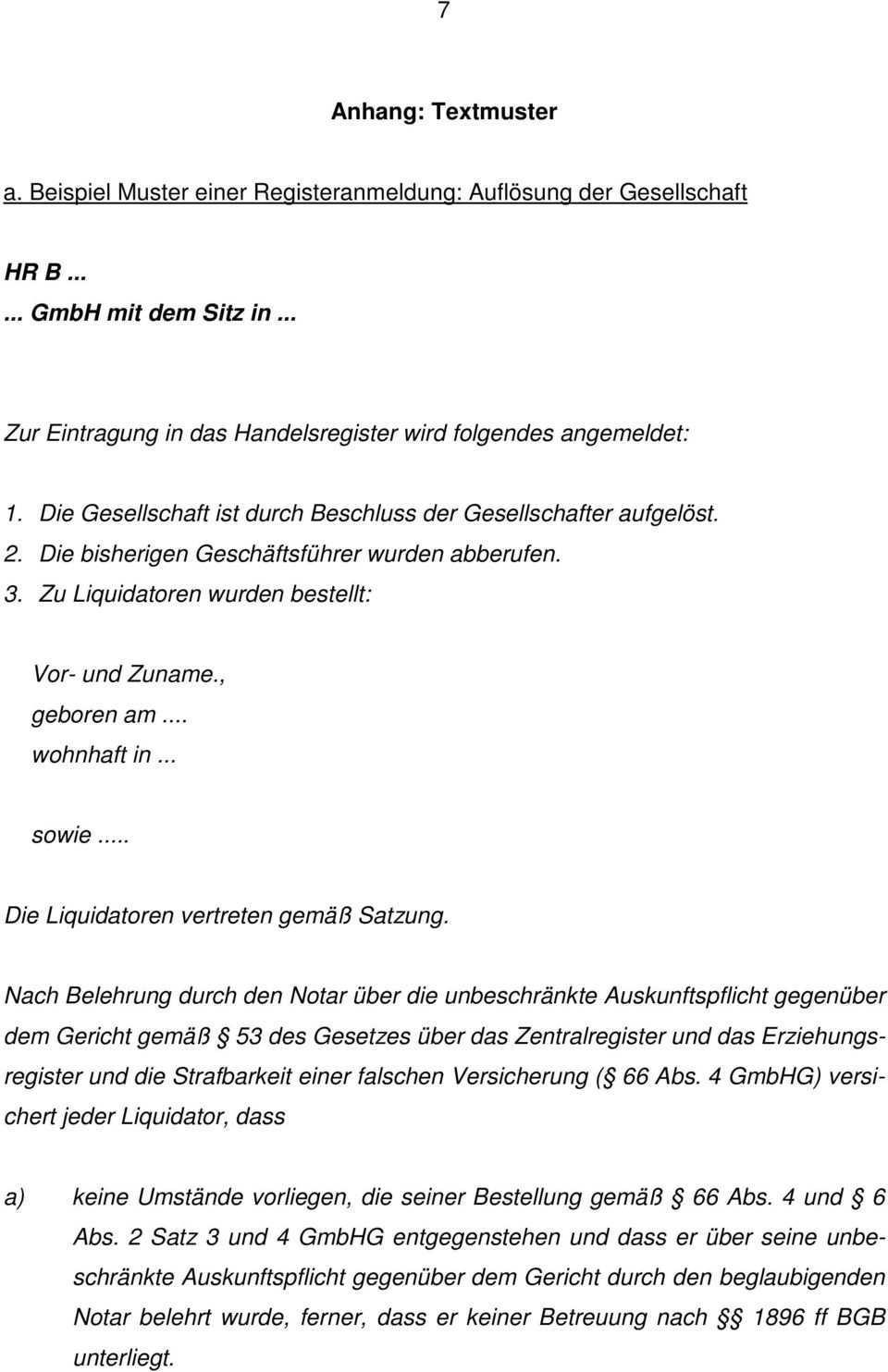 Merkblatt Liquidation Einer Gmbh Pdf Kostenfreier Download