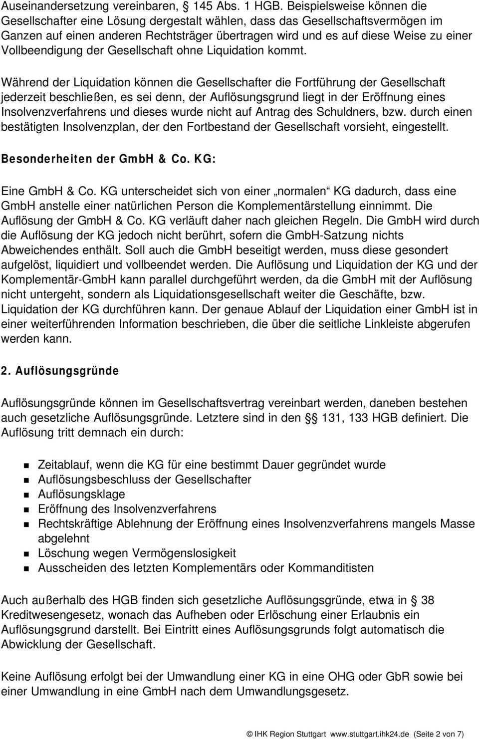 Auflosung Liquidation Und Beendigung Einer Kg Pdf Free Download