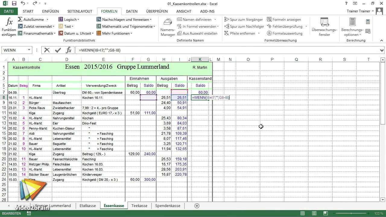 Excel Workshop Kassenbuch Tutorial Einfache Rechnungen Durchfuhren Video2brain Com Youtube