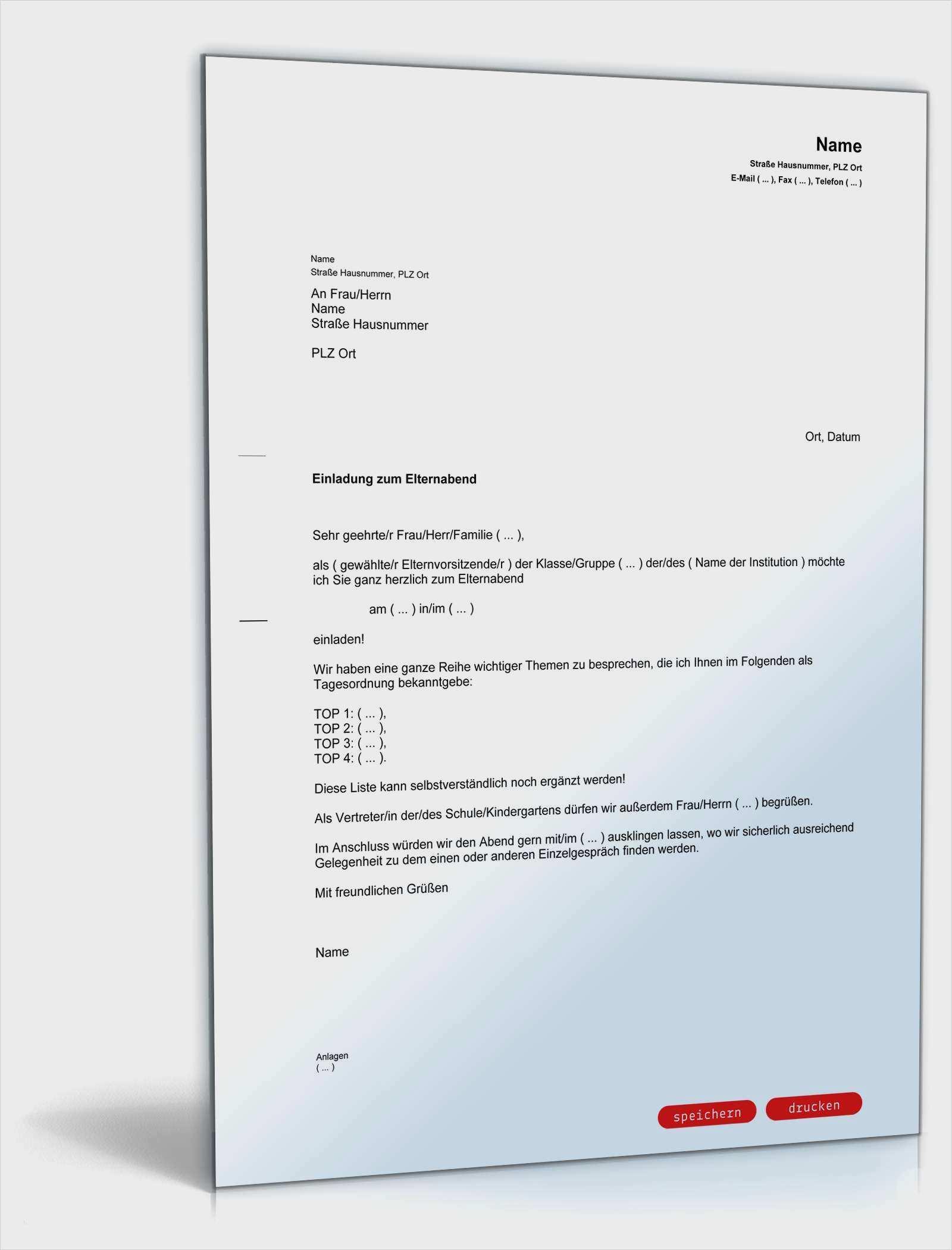 Schonste Elternabend Einladung Vorlage Ebendiese Konnen Einstellen In Ms Word Lebenslauf Briefkopf Vorlage Vorlagen