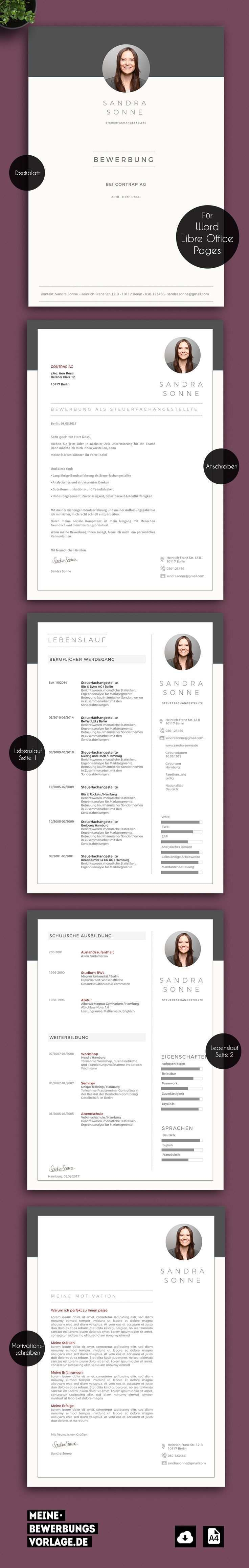 Bewerbung Jobsuche Template Vorlage Bewerbungsvorlage Muster Cv Word Pages Apple Bewerbung Anschreiben Vorlage Lebenslauf Lebenslauf Design