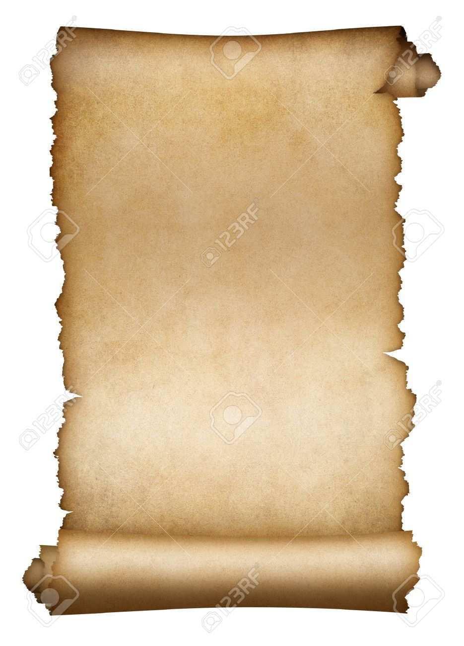 Alte Schriftrolle Pergament Oder Papier Isoliert Auf Weiss Lizenzfreie Fotos Bilder Und Stock Fotografie Image 48196741