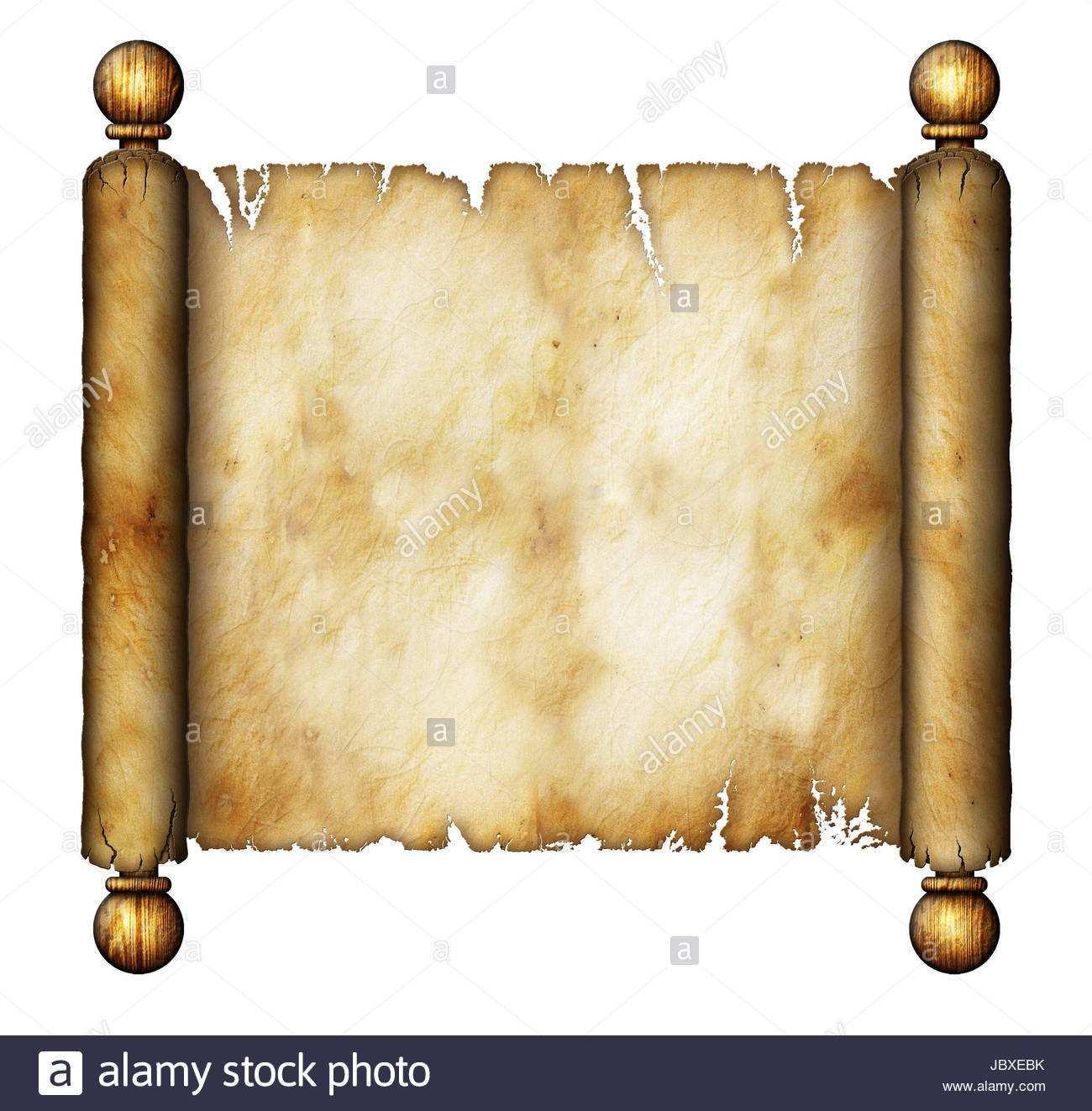 Beispiel Fur Eine Alte Schriftrolle Stockfotografie Alamy