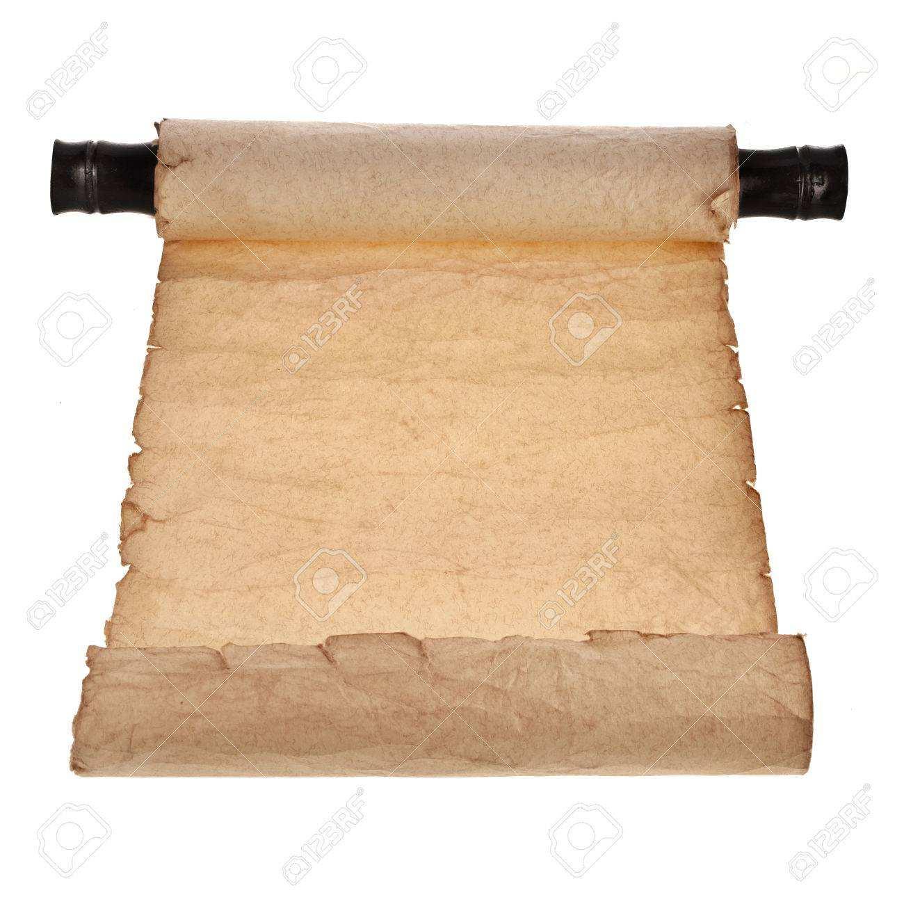 Antike Schriftrolle Leer Isoliert Auf Weissem Hintergrund Lizenzfreie Fotos Bilder Und Stock Fotografie Image 29436178