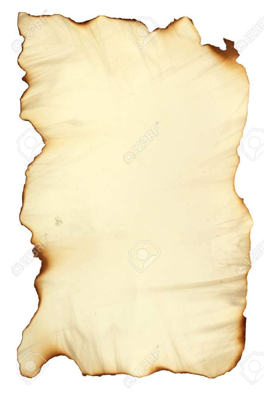Foto Bild Von Einem Alten Papier Blatt Isoliert Auf Weiss Grunge Verbrannt Antike Papier Textur Leere Alte Schatz Karte Vorlage Lizenzfreie Fotos Bilder Und Stock Fotografie Image 65811895